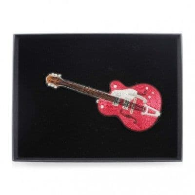 Red Guitar Brooch (Large)